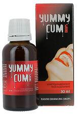 Stimolante che aumenta lo sperma e migliora il gusto YUMMY CUM DROPS 30 ML