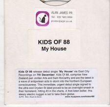 (EJ929) Kids of 88, My House (debut) - DJ CD