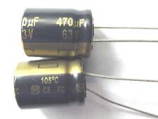 470uf 63v 105c LOW ESR Size 16mmx20mm Panasonic EEUFC1J471 Low profile  x2pcs