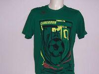 TEE SHIRT manches courtes neuf Puma Football CAMEROUN taille S ou L coloris vert