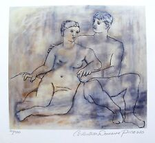 Pablo Picasso LOVERS Estate Signed & Numbered Small Giclee Art