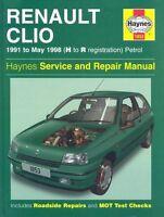 Renault Clio Petrol Service and Repair Manual ; 1991 to May 1998 (Haynes Service