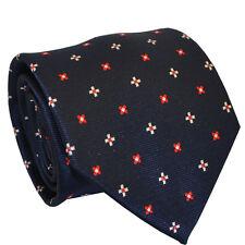 100% Silk Blue Floral Tie Men Fashion Wedding Business Office Party Men Necktie