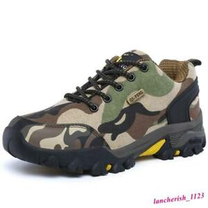 Camo Men's Sport Shoes Hiking Boot Lace Up Casual Outdoor Round Toe Comfort Chic