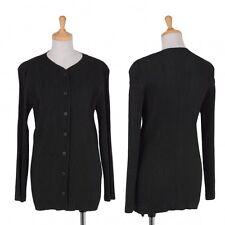 ISSEY MIYAKE Pleats Polyester Cardigan Size M(K-37501)