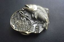 Trout Belt Buckle New Old Stock Usa Made!