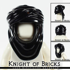 Lego Minifigure BLACK Keffiyeh Head Wrap Hood Desert Cap