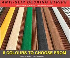 Anti Slip GRP Strips for slippery decking. Free Drilling, shipping & Screws.