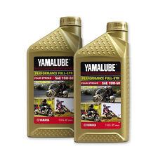 Yamalube 15W-50 Full Synthetic with Ester Engine Motor Oil OEM Yamaha 2 Quarts