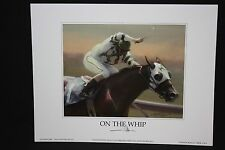 "ON THE WHIP Print James L. Crow 9"" x 7"" Keeneland Lexington KY"