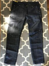 ( NEW ) G star raw Denim Jeans 30 X 30 Style: 5630 BK 3D LW T Tapered Fit