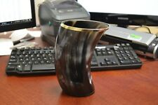 """BUFFALO HORN GAME OF THRONE MEDIEVAL DRINKING ALE CUP MUG 7"""" #B"""