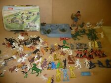 Vintage toy plastic Soldiers / Animals Mixed makers .Large Marx Egyptian /Airfix