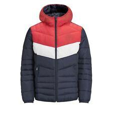 Mens Puffer Jacket JACK & JONES Bendt  Hooded Zip Up Bubble Coat