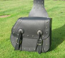 Motorcycle Saddlebag Leather Studded Travel Multifunctional Luggage Pouch Bag