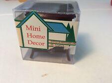 Vintage 1:12 scale Dollhouse Mini Home Decor Sheraton Mahogany End Table NEW
