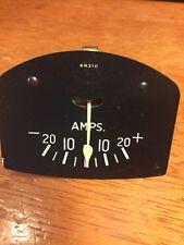 2 3/8 2 5/8 3 1/2 DUPLEX 20/20 AMP GAUGE 32 FORD SCTA VINTAGE DASH INSTRUMENT