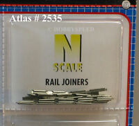 ATLAS N SCALE CODE 80 RAIL JOINERS SNAP TRAIN TRACK CONNECTORS (48 PCS) atl 2535