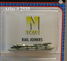ATLAS N SCALE CODE 80 RAIL JOINERS SNAP TRACK 48 PCS track connectors atl 2535
