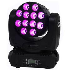 YISCOR 12LED RGBW LED Moving Head Light Spot Beam Stage Lighting Party DMX 120W