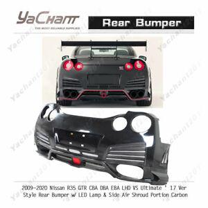 FRP&Carbon Bar For 09-20 Nissan R35 GTR LHD VS Ul 17 Rear Bumper w/ LED&Shroud