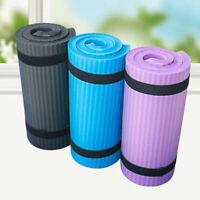 Extra Thick Non-slip Yoga Mat Pad Exercise Fitness Pilates w/ Strap 24''x10''