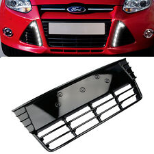 NEW Front Lower Center Grille Grill  ABS Gloss Black For Ford Focus 2012-2014