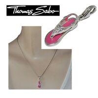 THOMAS SABO Breloque pendentif charm's en argent massif 925 sandale rose bijou