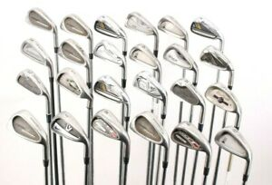 Lot of 24 Golf Single Irons Nike Dynacraft Titleist TaylorMade Mizuno Cobra RH