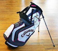 Callaway Golf Lightweight Chev Black Pink White Carry Ladies Stand Bag NEW