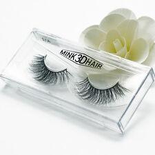 1Pair 100% Siberian Mink Fur Natural Corner Thick 3D False Eyelashes Fake Lashes
