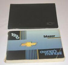 1996 CHEVROLET BLAZER OWNERS MANUAL GUIDE BOOK SET OEM