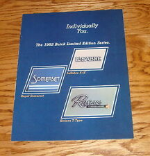 Original 1982 Buick Limited Edition Series Sales Brochure 82 Riviera T-Type