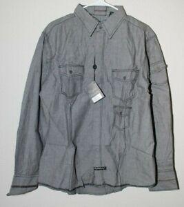 English Laundry BLAQUE LABEL Mens Dress Shirt Collared French Black XL LMW1155