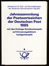 Briefmarken der DDR (1981-1990) mit Sonderstempel
