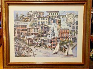 Framed Art Print CHARLESTON ARCHITECTURAL IMPRESSIONS