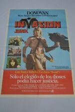 RARE - VINTAGE ARGENTINA 1981 BEASTMASTER - INVASION JUNK - POSTER ORIGINAL