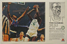 Tom Sanders Satch 1990 Boston Celtics Basketball Citgo poster Mike Wimmer art