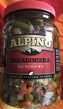 Alpino Hot Pepper Mix Chicago Style Giardiniera 64oz 1/2 Gallon