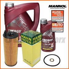 BMW 1er 3er X1 | MANN Ölfilter + 6L MANNOL 5W-30 Longlife 04 Motoröl