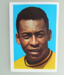 Rare PELE MEXICO 1970/71 WONDERFUL WORLD of SOCCER STARS Football Sticker - FKS