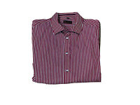 Ben Sherman Mens Big And Tall Size 4XL Long Sleeves Collared Button Up Shirt