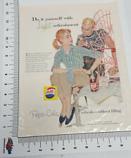 Old color advertising page out of a vintage magazine for Pepsi do it yourself