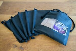 SHOE BAG MULTI PACK OF 6  For Dance & Accessories Drawstring Style Black/Clear