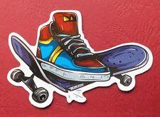 "Sticker Aufkleber ""Broken Skateboard"" Glanz-Optik Stickerbomb Skateboard Laptop"