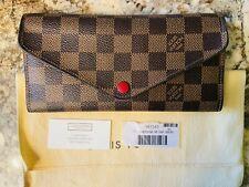 Authentic Louis Vuitton Damier Ebene Josephine Wallet - N63543
