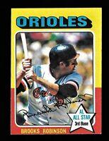 Brooks Robinson 1975 Topps Mini #50 Card