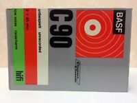 BASF LOW NOISE С90 BLANK AUDIO CASSETTE TAPE NEW RARE 1971 YEAR GERMANY MADE