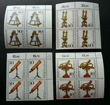 Germany Optical Instruments 1981 Telescope Microscope (stamp block of 4) MNH