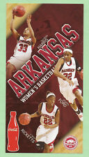 Arkansas Women's Basketball Schedule 2009-10 w/Harris, Ford, Ricketts Photos